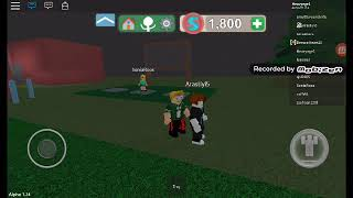 Aras and I played cake at roblox.