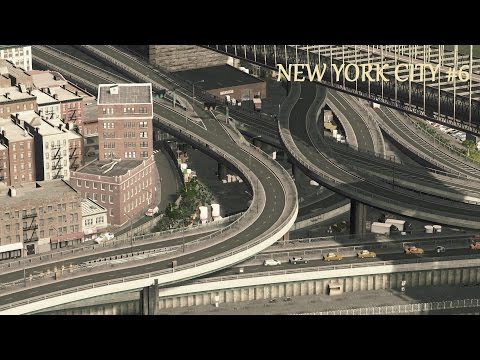 Cities Skylines : New York City - Brooklyn Bridge Interchange / Newtown Creek   (Ep.6)