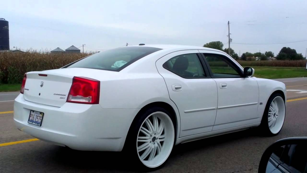 White On White Charger On 24s Youtube