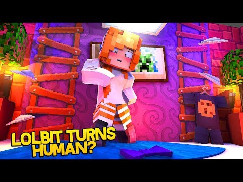 Lolbit is a human now?! (Minecraft Fnaf Daycare)