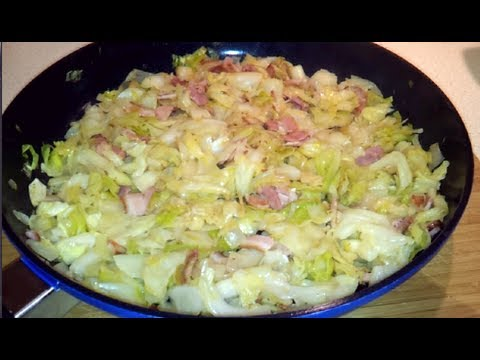 Fried Cabbage, Bacon and Onion side dish (Dr Poon / Low Carb)