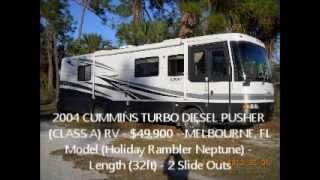 32ft Cummins Turbo Diesel Pusher Rv For Sale W/2 Slideouts