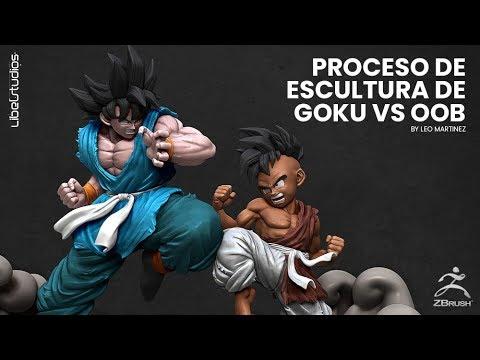 Escultura GOKU vs OOB en BRUSH