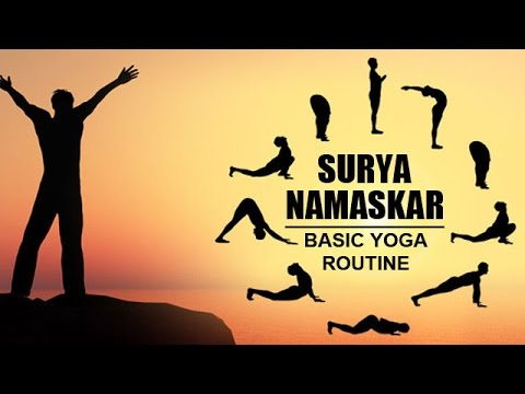 surya namaskar  basic yoga routine  youtube