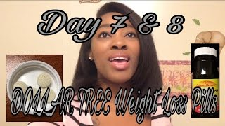 DOLLAR TREE- Nature's Measure Weight Loss Pills Day 7 & 8  - Update | Weight Loss VLOG