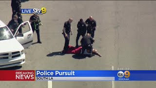 Police Chase Carjacking Suspect In South LA