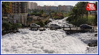 Bangalore's Varthur Lake Spills Toxic Froth Again, Troubles Commuters