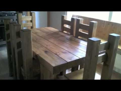 Live with wood. Rustic furniture.