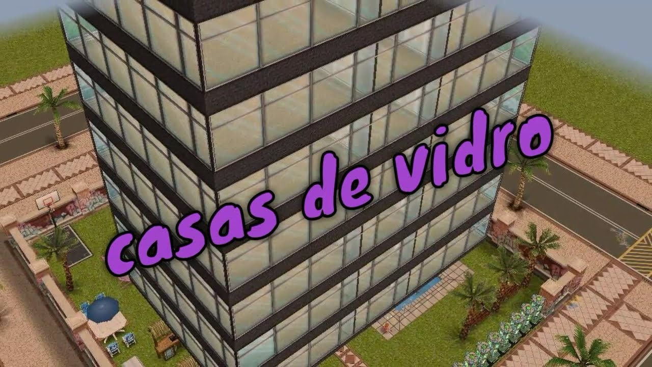 The sims freeplay casas de vidro e acesso praia youtube for Casa de diseno sims freeplay