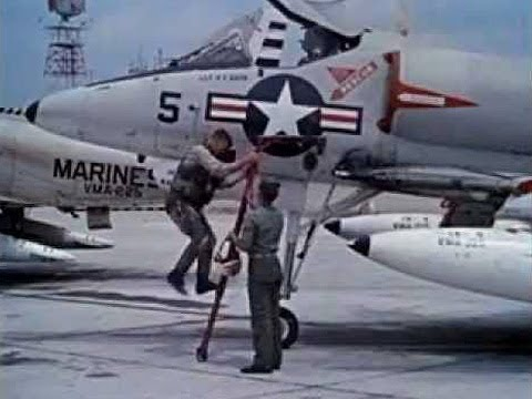 Aircraft Carrier Landing Practice with A-4 Skyhawk