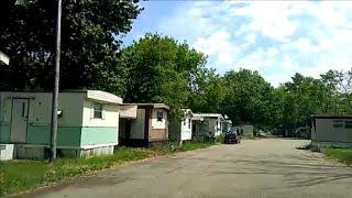 TRAILER PARK OFF 8 MILE RD NEAR DETROIT WHERE EMINEM LIVED