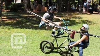Ryan Nyquist BMX Tall Bike Jousting Battle: Getting...