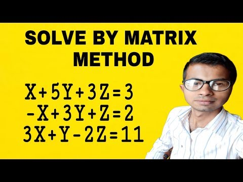 Solve Variable Equation's With Matrix In Hindi #MATHSLOGY#