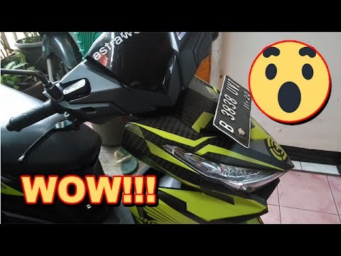 All New Honda Vario 150 eSP Exclusive Matte Black - New Striping Carbon Sticker