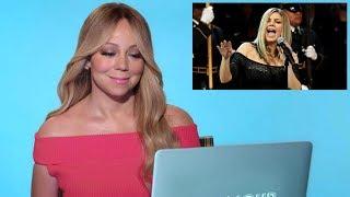 Mariah Carey REACTING to Fergie's NATIONAL ANTHEM!
