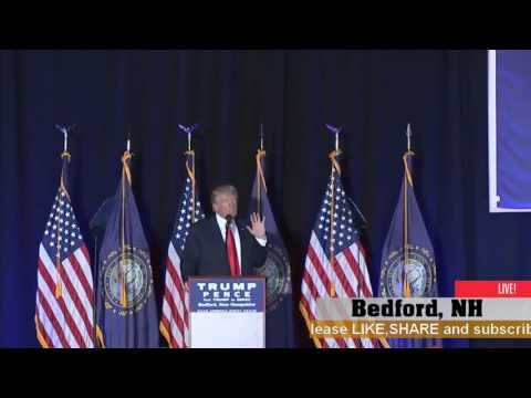 AMAZING:Donald Trump Rally in Bedford, NH (9-29-16)