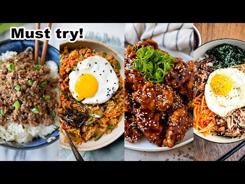 Easy Korean Food to cook at home | FOUR HOMEMADE DISHES