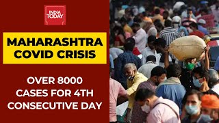 Maharashtra reported more than 8,000 new cases of covid-19 for the fourth consecutive day. has 8,623 coronavirus in la...