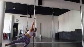 "Pole Dance inter ""Spin on static pole"" avec Amanda Pia"
