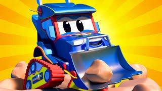 Video truk untuk anak-anak - MOBIL BALAP & BULDOZER - Truk Super di Kota Mobil!