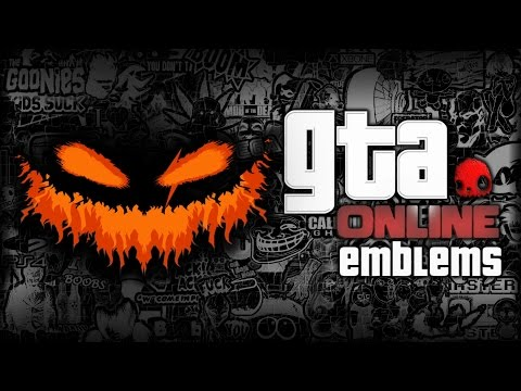 GTA V - Jack O' Lantern - Custom Crew Emblem Tutorial ( Grand Theft Auto 5 ) Screetch2009