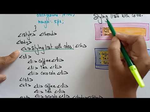 CSS Lists | Web Technology | Lec-19 | Bhanu Priya