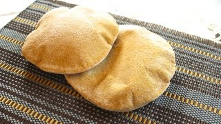 Best Pita Bread Recipe, 100% Whole Wheat (arabic)