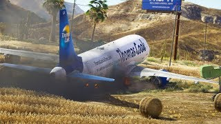 A321 Crashes Into Cornfield During Emergency Landing | GTA 5