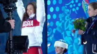 Олимпийские игры Сочи 2014 г. Церемония награждения спортсменов