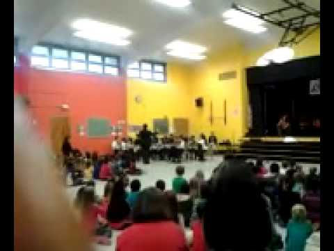 a concert at North Glen elementary school
