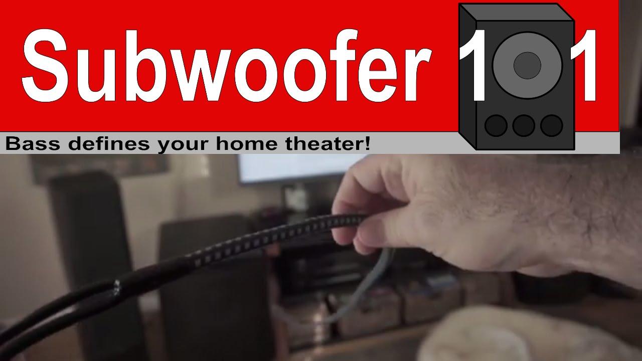 Speaker Wire   Subwoofer 101