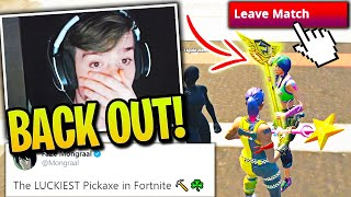 Why Mongraal IMMEDIATELY Backed Out after Finding FNCS Pickaxe in Pregame Lobby...