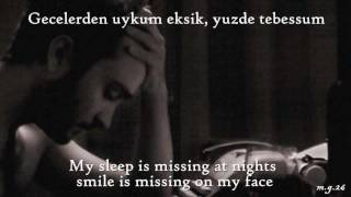 Mustafa Ceceli & Elvan Günaydın - Eksik (Missing) [Turkish/English Lyrics]