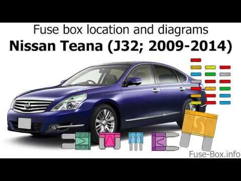 2009 nissan sentra fuse box location fuse box location and diagrams nissan teana  j32  2009 2014  nissan teana  j32  2009