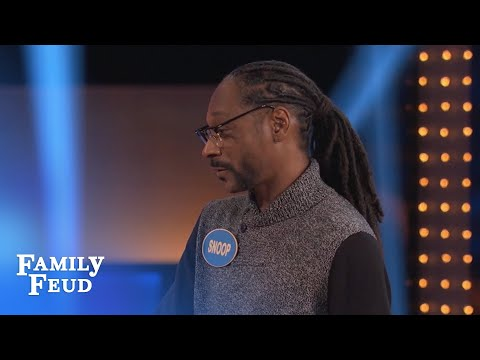 Thumbnail: Must SEE! Can SNOOP beat SUGAR RAY on the BUZZER? | Celebrity Family Feud | OUTTAKE