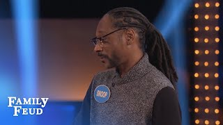 Must SEE! Can SNOOP beat SUGAR RAY on the BUZZER? | Celebrity Family Feud | OUTTAKE