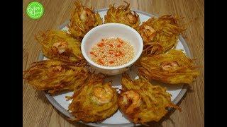 Cách làm Bánh Khoai - Shrimp and Potato Fritter Recipe