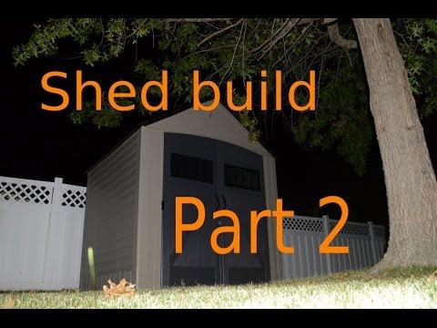 Assembling the Rubbermaid Model 5L40 Slide Lid Shed - YouTube