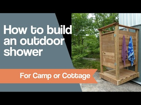 How To Make An Outdoor Shower Youtube