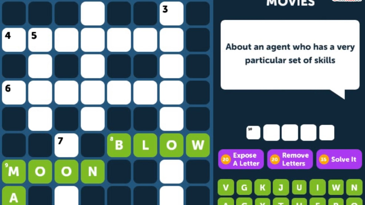 Crossword Quiz Movies Level 6 Walkthrough Youtube
