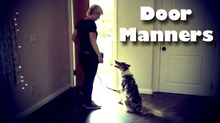Door Manners for Dogs! - Dog Training