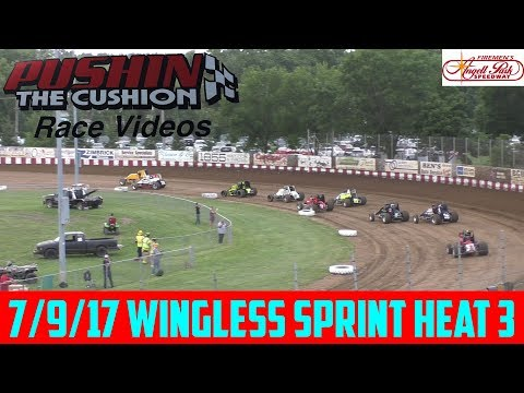 Angell Park Speedway - 7/9/17 - Wingless Sprints Heat 3