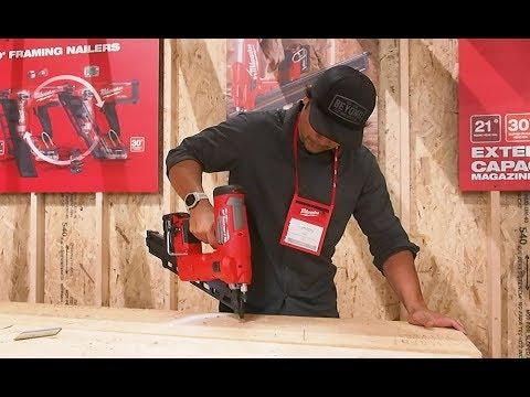 Milwaukee Tool M18 FUEL 21° Framing Nailer And M18 FUEL 30° Framing Nailer Demonstration
