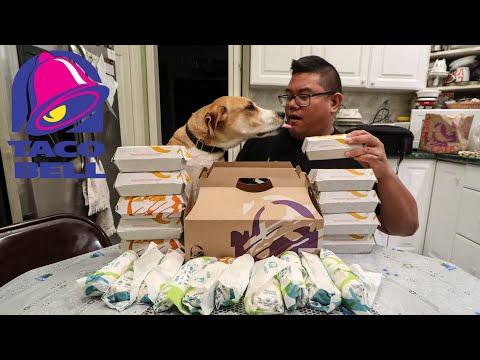 Taco Bell New Triple Melt Burrito & Nachos Plus Taco 12 Pack Food Challenge