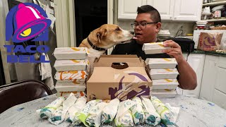 Taco Bell New Triple Melt Burrito & Nachos Plus Taco 12 Pack Food Challenge