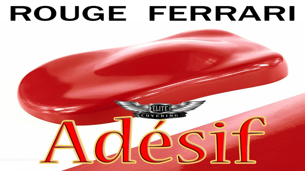 film adh sif pour covering rouge ferrari voiture moto d co maison etc youtube. Black Bedroom Furniture Sets. Home Design Ideas