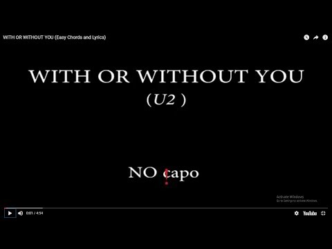 U2 With Or Without You Lyrics And Chords [8.36 MB] - Free Music and ...