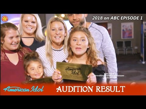 Layla Spring And Sister Dyxie Get Golden Ticket (RESULT)  Audition American Idol 2018 Episode 1