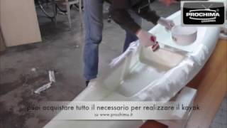 come costruire   kayak Fai da Te in resina epossidica home made epoxy ( part 3 )