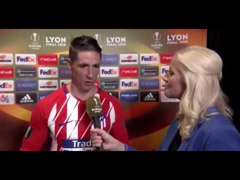 Fernando Torres Interview about achieving first silverware with Atletico Madrid after EL Final 2018